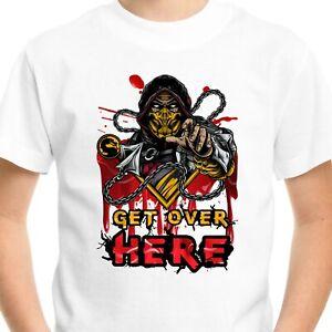 Mortal Kombat T-Shirt Gift Birthday Gamer Top Gaming Adults Kids Get Over Here