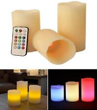 Flameless Wax Remote Controlled LED Candles Colour Changing Flame Candle New