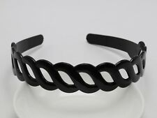 5 Black Plastic Braid Shape 25mm Wide Alice Headband Hair Band Hair Accessory