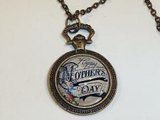 placcata bronzo collana con ciondolo - della mamma giorno REGALO cg0327