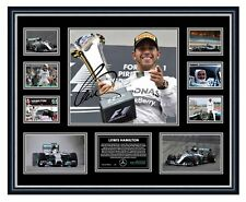 LEWIS HAMILTON F1 MERCEDEZ SIGNED PHOTO LIMITED EDITON FRAMED MEMORABILIA
