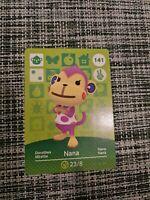 Nana Animal Crossing Amiibo Card | MINT & UNSCANNED | 141