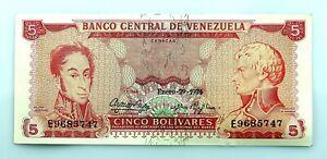 Venezuela. 5 Bolivares. Enero - 29 - 1974. SC-/UNC-