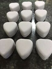 WHOLESALE JOBLOT 24 GREY VELVET HEART RING BOXES, JEWELLERY BOXES, PACKAGING,
