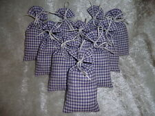 5 Lavendelsäckchen *karo lila 1* Lavendelkissen Schrankduft Deko Wäscheduft