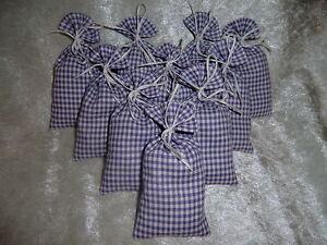 10 Lavendelsäckchen *karo lila 1* Lavendelkissen Schrankduft Deko Wäscheduft