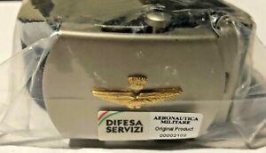 CINTURA AERONAUTICA MILITARE BLU con FIBBIA SATINATA cm 125 dot. regolamentare