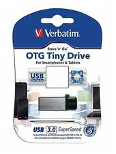 Verbatim 32GB OTG Tiny Micro USB 3.0 Pen Flash Drive Android Smartphone Tablet