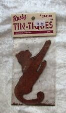 """NEW Rusty Tin-Tiques PANTHER 4 1/2"""" Primitive crafts NIP UNOPENED animal shape"""