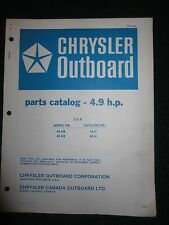 1974 Chrysler Outboard 4.9 HP Part Catalog Manual 44HB 45HB 44 45 HB