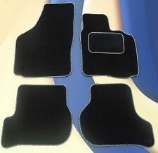 MINI FIRST /ONE / COOPER /COOPER S 06-14 BLACK CAR MATS +SILVER EDGING +4 PADS B