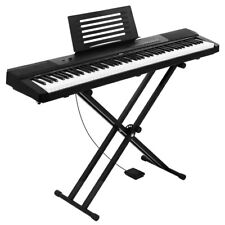 Alpha 88 Keys Electronic Piano Keyboard Electric Holder Music Stand Touch Sensit