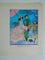 Mapa Envío Grabado Antigua Coloreados En Plantilla Firmada J. Hilly C.1930