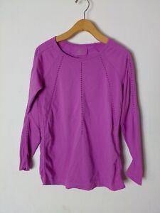 Athleta Long Sleeve Top Size Small Women Purple Athletic