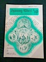 1971 Spinning Wheel Stangl Audubon Birds Lace Bobbins Powder Horns Flasks Trivet