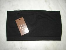 Icon Apparel Black Seemless Bandeau. Tube Top. O/S. NEW. FREE SHIPPING.