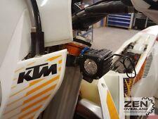 Zen Overland - KTM 690 Enduro LED Spot Light Mounts - Auxiliary Lighting Orange