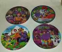 "Lot of 4  McDonalds Holiday Plates 2000 -2004  9 1/2"""