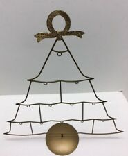 Joan Rivers Gold Tree Stand Frame for hanging ornaments with Gold Wreath Detail