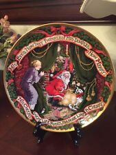 Rare Fitz Floyd The Night Before Christmas Collector Plate Limited Series A