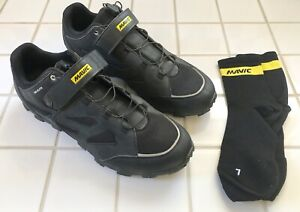 MAVIC XA Elite MTB Cycling Shoe, Black, Size 11.5M/12.5W/With Mavic Cosmic Socks