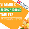 Vitamin C Tablets 1000mg HIGH STRENGTH Antioxidant Immune System Booster UK Made