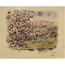 John Marin 1948, Pencil Signed Lithograph Peach Trees