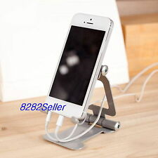 Silver Foldable Adjustable Metal Stand Holder For Phone Tablet Galaxy S7 iPhone7