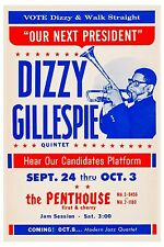 Jazz Great: Dizzy Gillespie at the Penthouse Concert Poster 1964  12x18