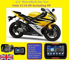 "Motorbike Sat Nav 4.3"" Touch Screen Waterproof Bluetooth UK Europe"