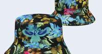 Atlanta Hawks Mitchell & Ness NBA Hawaiian Print Bucket Hat Sun Beach Cap S/M