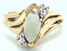 NATURAL 0.81 Carats OPAL & DIAMONDS RING 10K GOLD **Free Appraisal **