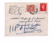 As111 1938 GB GB Portsmouth A Londra COVER. 1d spese di spedizione a causa
