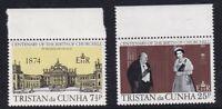 TRISTAN da CUNHA 30 NOV 1974 WINSTON CHURCHILL CENTENARY SET OF BOTH  MNH