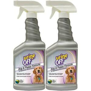2 x Urine Off Dog and Puppy Spray for Hard Surfaces 500ml Remove Old Fresh Stain