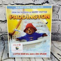 Paddington Bear BLU-RAY DVD Story Book Combo Target Exclusive w/ Slipcover OOP