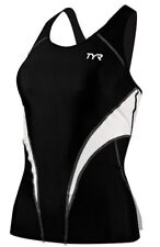 $72 New Tyr Fitted Tankini Top Competitor Collection sz Medium Spf 50 Protection