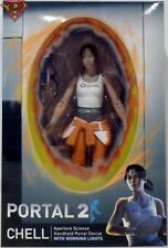 """CHELL with LIGHT- UP ASHPD Portal 2 7"""" inch Scale Video Game Figure Neca 2018"""