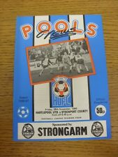 28/11/1986 Hartlepool UNITED V Stockport County. Any faults With This item Hav