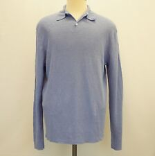 Polo Ralph Lauren Mens Sweater Linen Collared Pullover Periwinkle Blue XL $225