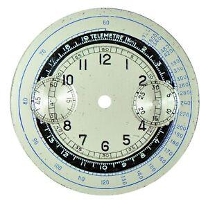 Vintage Chronograph Chrono Wristwatch Dial Landeron L39, 1930s
