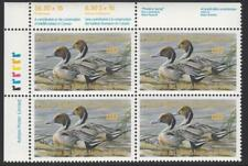 Canada Wildlife Conservation Duck Stamp VanDam #FWH4c MNH Plate Block 1988 cv$85