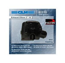 """GLM 51110 Mercruiser 262 305 350 454 3"""" Exhaust Riser Elbow 98504A3 18-19701"""