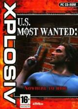 U.S. MOST WANTED: NOWHERE TO RUN PC CD-ROM SHOOTER GAME new & sealed !