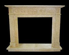 Cornice Caminetto Camino in Travertino Classico Old Fireplace Marble Frame Top