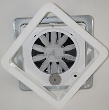 "Heng's VORTEX 1 INSTALLED SMOKE lid 14"" rv roof vent 71112V-C fan     VX1-INT-SM"