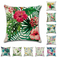"""18"""" Tropical Flower Birds Sofa Cushion Cover Throw Pillow Case Home Garden Decor"""