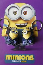 New 2 Pcs Minions Despicable Me Toy Rubber 3D KeyChain - Vampiro