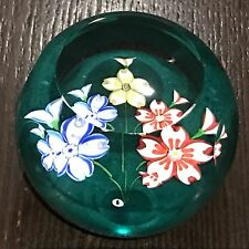 """Whitefriars """"Triple Fancy"""" Colored Flowers Ltd Ed Paperweight New In Box w COA"""