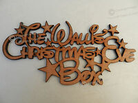 Disney Personalised Family 'Christmas Eve Box' Topper Sign Wood Star Craft Sign.